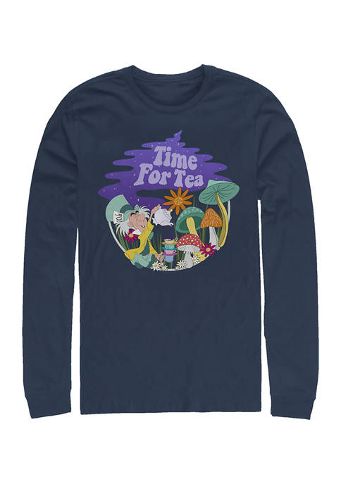 Disney® Tea Time Filled Long Sleeve Crew Graphic