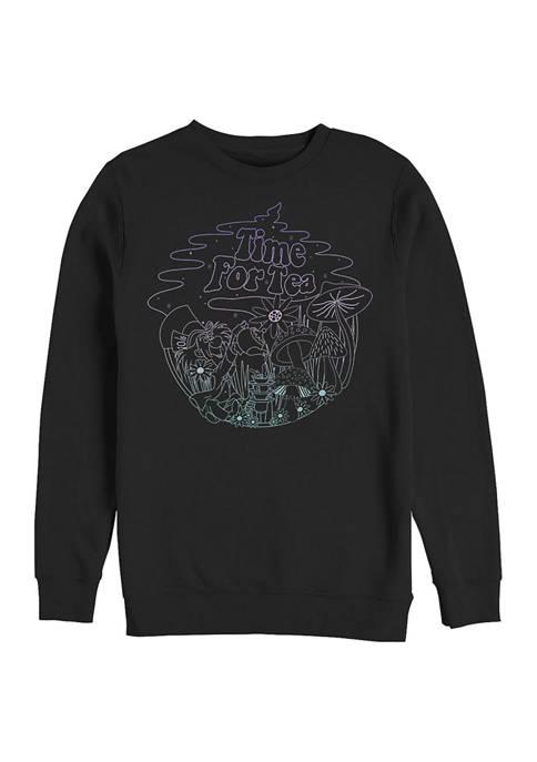 Disney® Tea Time Line Crew Fleece Graphic Sweatshirt