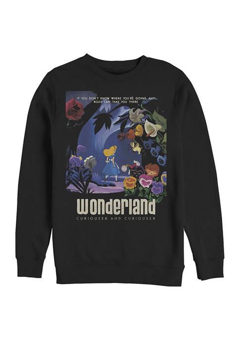 Disney® Curiouser Graphic Crew Fleece Sweatshirt