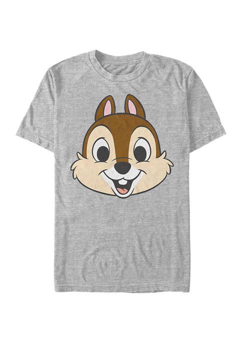 Disney® Chip Big Face Short Sleeve Graphic T-Shirt