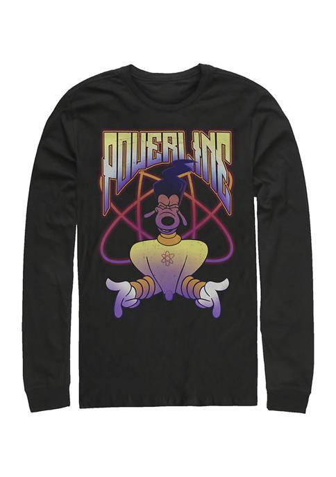 Disney® Powerline Jam Long Sleeve Crew Graphic T-Shirt
