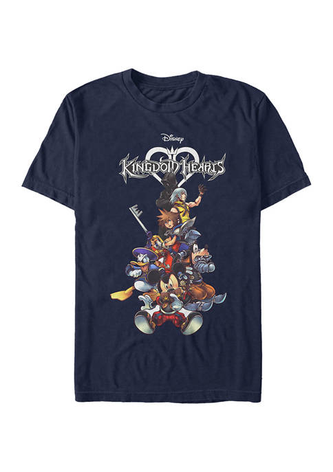 Fifth Sun™ Kingdom Hearts Group with Logo Short