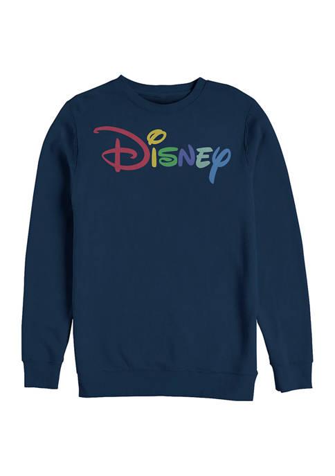 Disney® Juniors Multicolor Disney Graphic Crew Fleece Sweatshirt