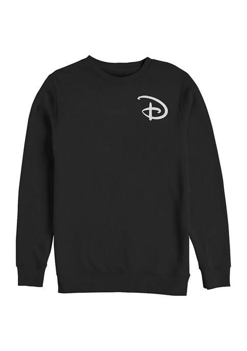 Disney® Juniors Disney D Pocket Graphic Crew Fleece
