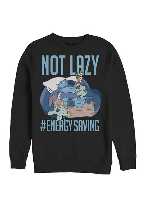 Disney® Juniors Lazy Energy Graphic Crew Fleece Sweatshirt