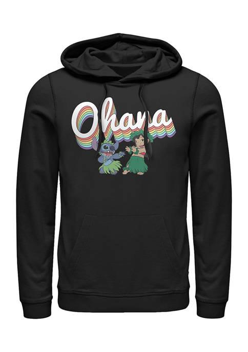 Disney® Rainbow Ohana Fleece Graphic Hoodie