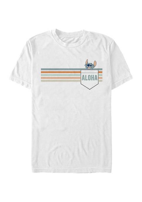 Disney® Stitch Aloha Graphic Short Sleeve T-Shirt