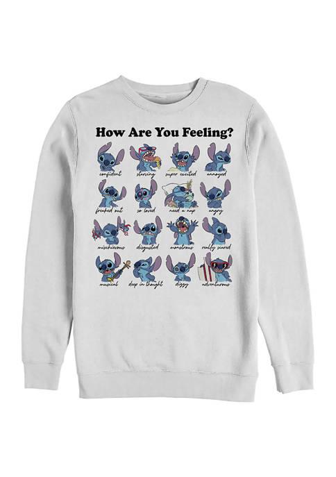 Disney® Stitch Moods Graphic Crew Fleece Sweatshirt