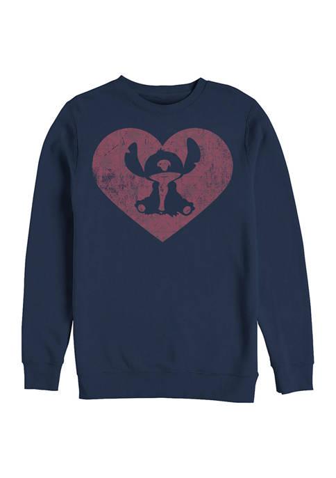 Disney® Stitch Heart Crew Fleece Graphic Sweatshirt