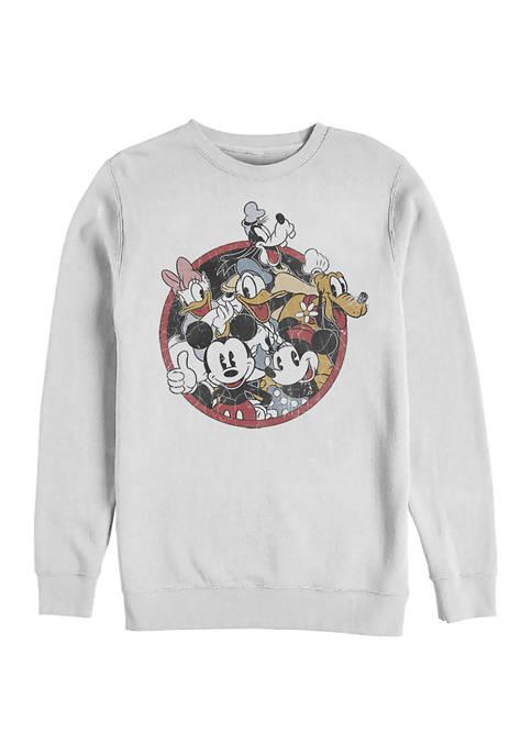 Disney® Retro Groupie Crew Fleece Graphic Sweatshirt