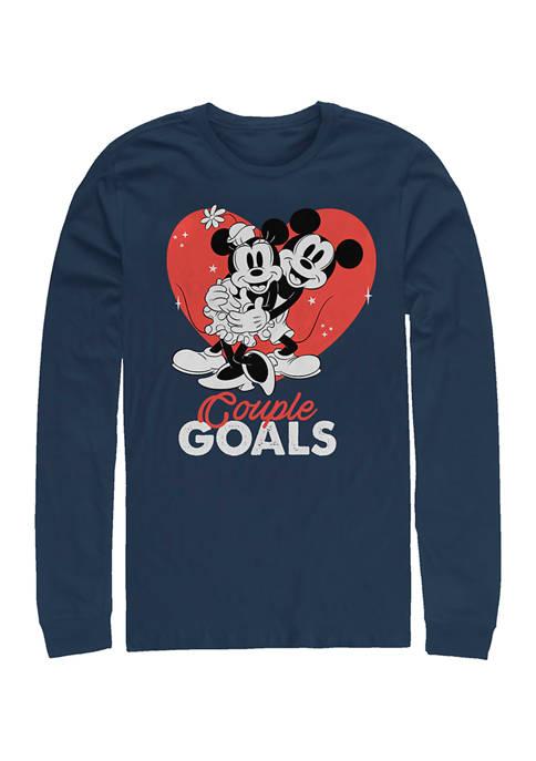 Disney® Couple Goals Graphic Long Sleeve Crew T-Shirt