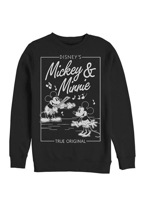 Mickey Classic Minnie Music Cover Crew Fleece Graphic