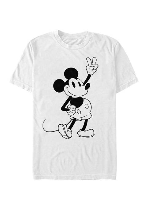 Disney® Simple Mickey Outline Short Sleeve Graphic T-Shirt