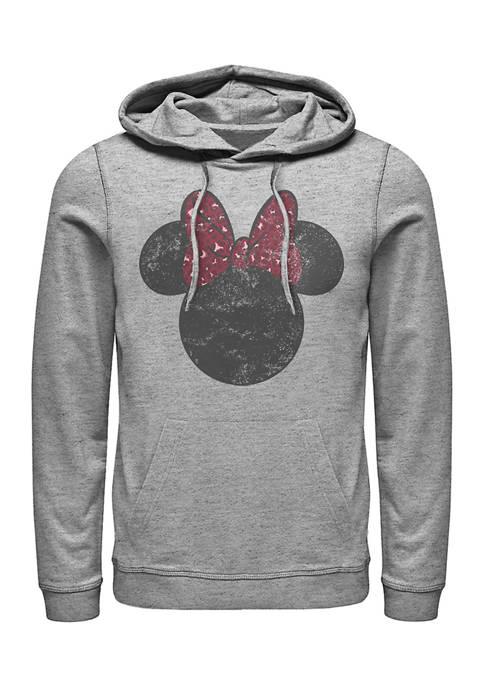 Disney® Minnie Leopard Bow Fleece Graphic Hoodie