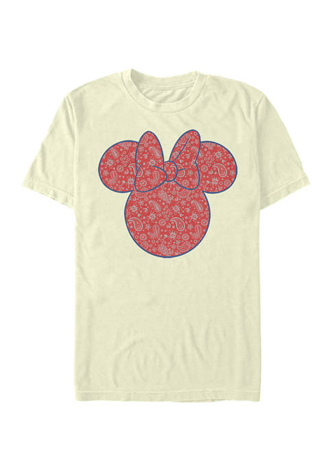Disney® Minnie Americana Paisley Short Sleeve Graphic T-Shirt