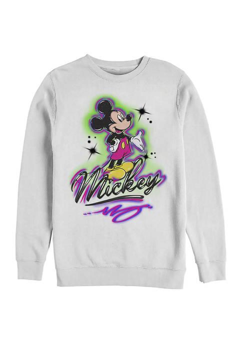Disney® Airbrush Mickey Crew Fleece Graphic Sweatshirt