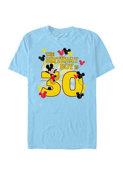 Disney® Birthday Boy Is 30 Short Sleeve Graphic