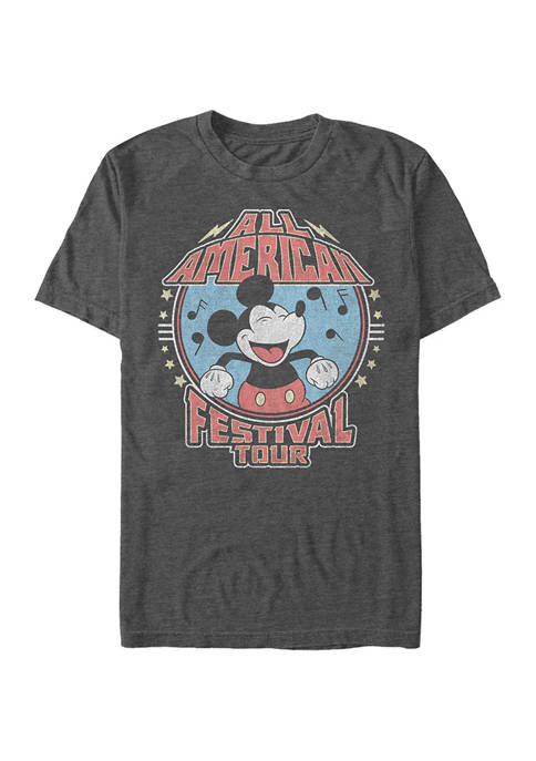 Mickey Classic American Tour Short Sleeve Graphic T-Shirt