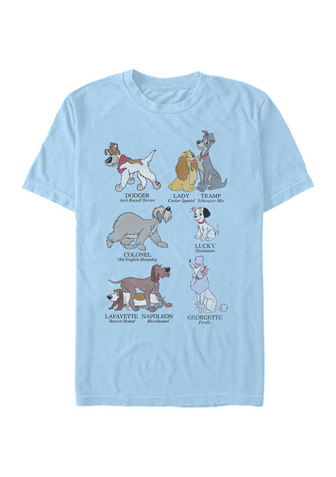 Disney® Dog Breeds Short Sleeve Graphic T-Shirt