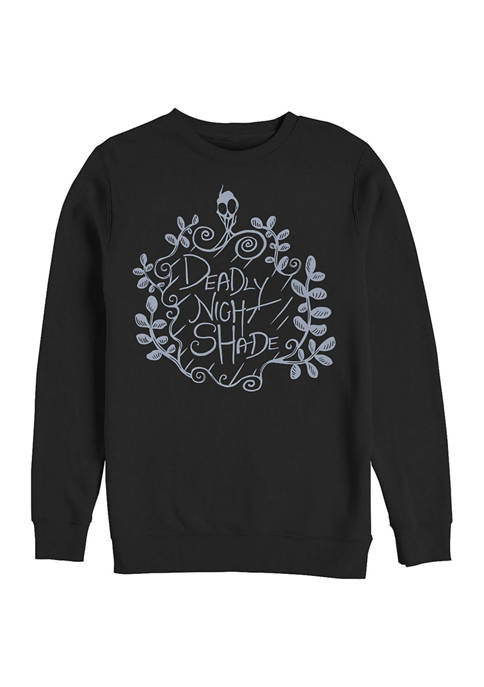 Deadly Nightshade Crew Fleece  Graphic Sweatshirt