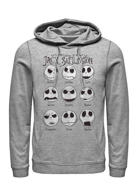 Nightmare Before Christmas Jack Emotions Fleece Graphic Hoodie