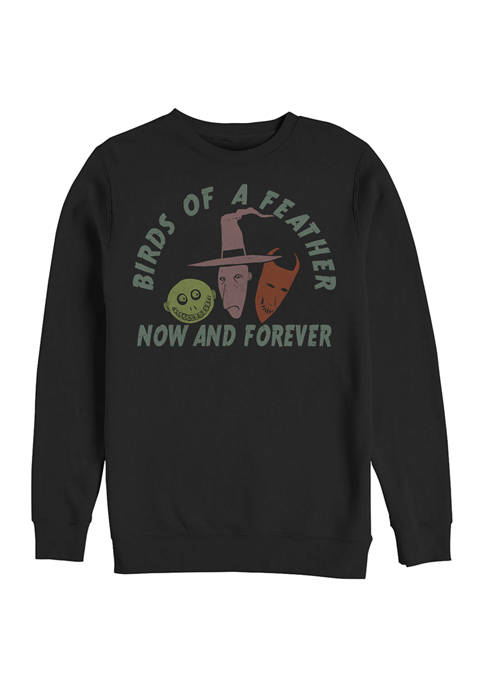 Nightmare Before Christmas Now and Forever Crew Fleece