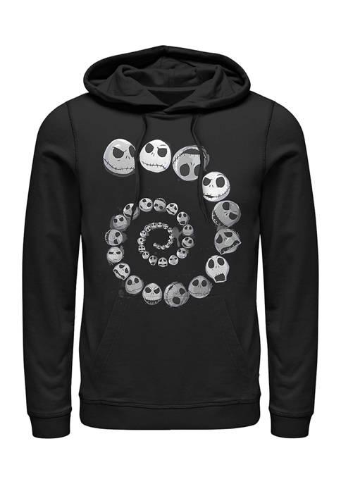 Nightmare Before Christmas Jack Emotions Spiral Fleece Graphic