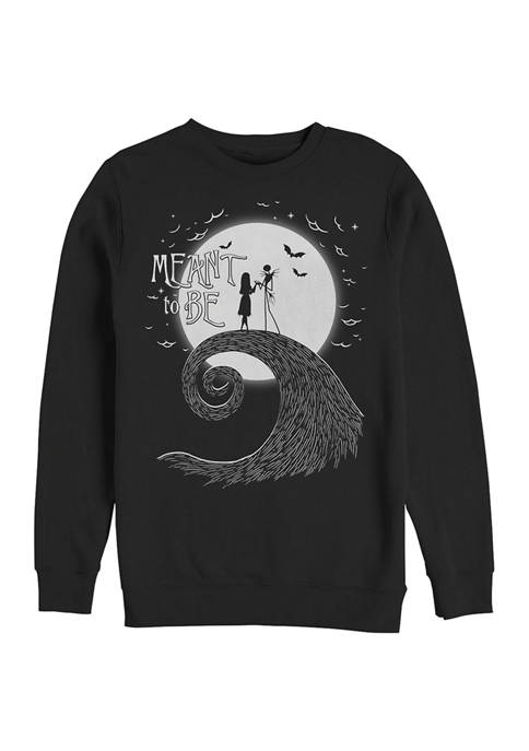 Nightmare Before Christmas Meant To Be Crew Fleece