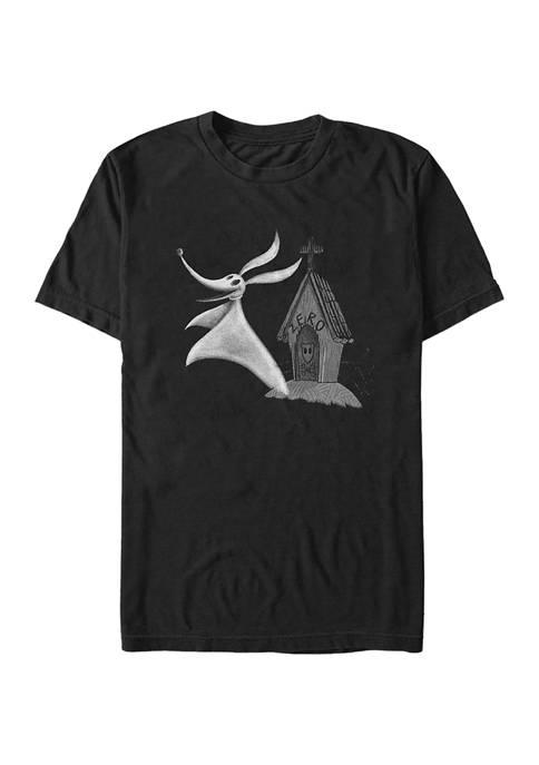 Nightmare Before Christmas Zero Short Sleeve Graphic T-Shirt