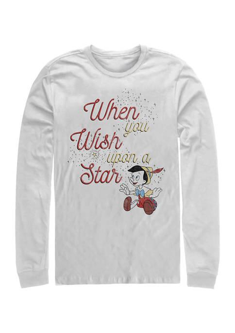Disney® Wishing Star Long Sleeve Crew Graphic T-Shirt