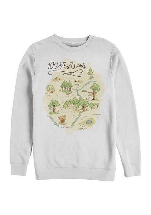 100 Acre Map Crew Fleece Graphic Sweatshirt