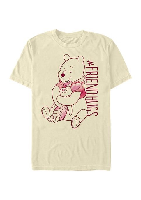 Piglet Pooh Hugs Short Sleeve Graphic T-Shirt