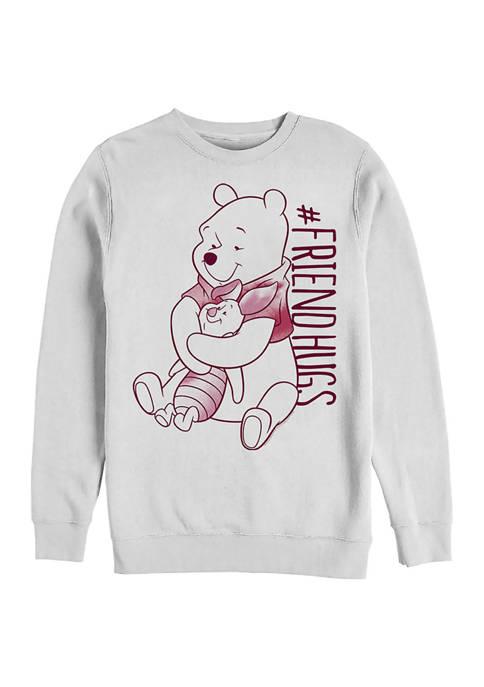 Disney® Piglet Pooh Hugs Crew Fleece Graphic Sweatshirt