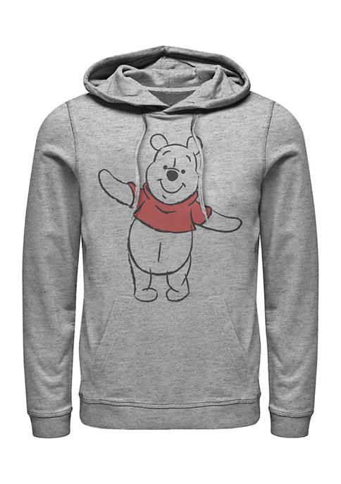 Basic Sketch Pooh Fleece Graphic Hoodie