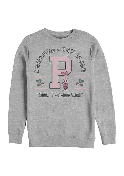 Disney® Piglet Collegiate Crew Fleece Graphic Sweatshirt