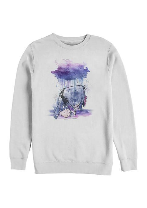 Watercolor Eeyore Crew Fleece Graphic Sweatshirt