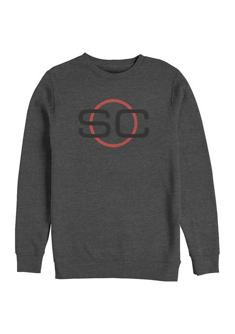 ESPN SportsCenter Circle Crew Graphic Fleece Sweatshirt