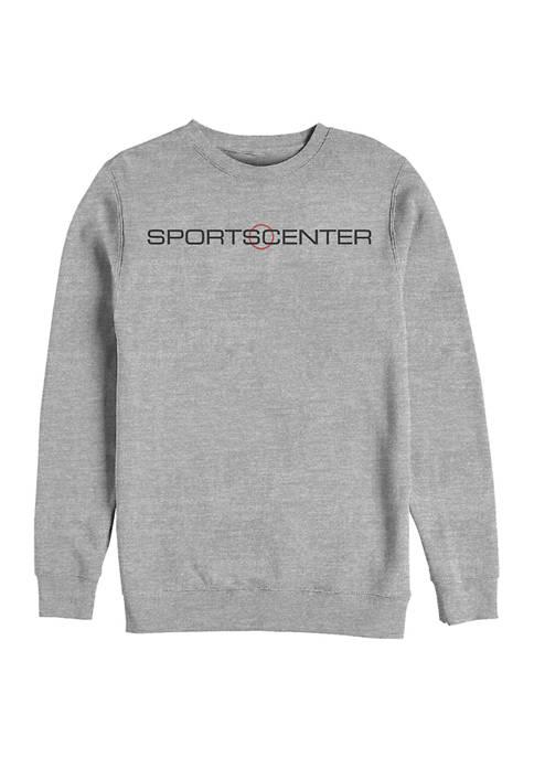 ESPN SportsCenter Horizontal Crew Graphic Fleece Sweatshirt