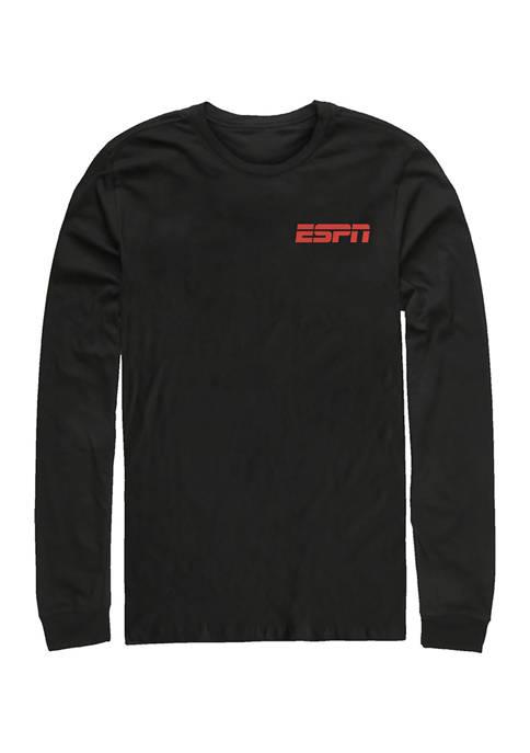 ESPN Pocket Long Sleeve Crew Graphic T-Shirt