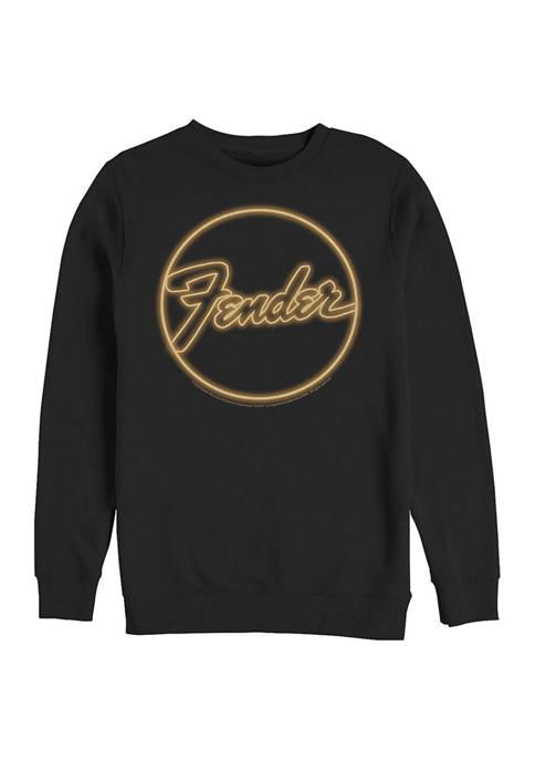 Fender Neon Logo Crew Fleece Graphic Sweatshirt