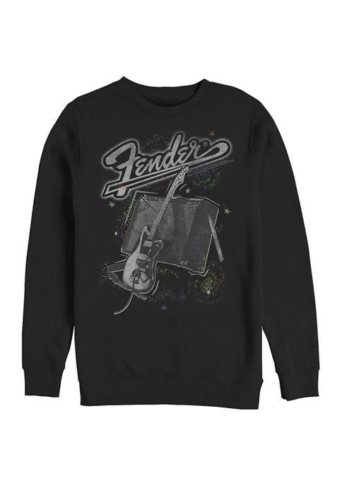 Fender Space Graphic Crew Fleece Sweatshirt