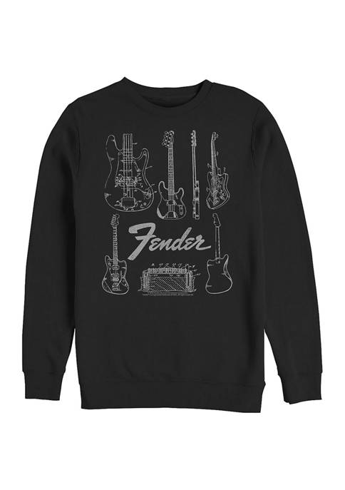 Fender Chart Crew Fleece Graphic Sweatshirt