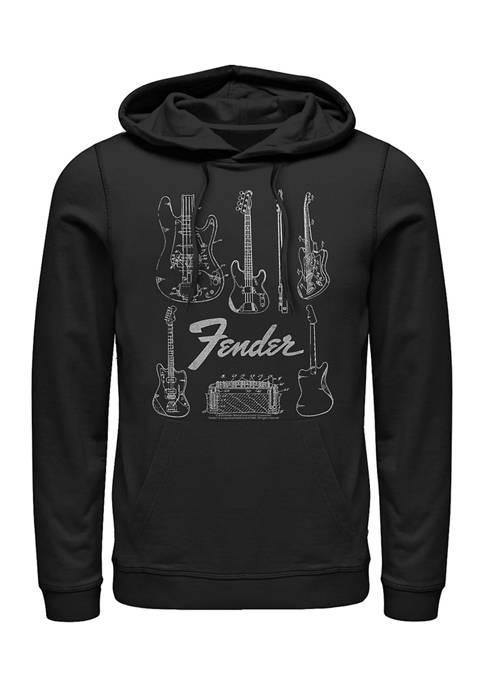 Fender Chart Fleece Graphic Hoodie