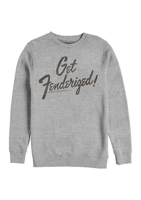 Get Fenderized Crew Fleece Graphic Sweatshirt
