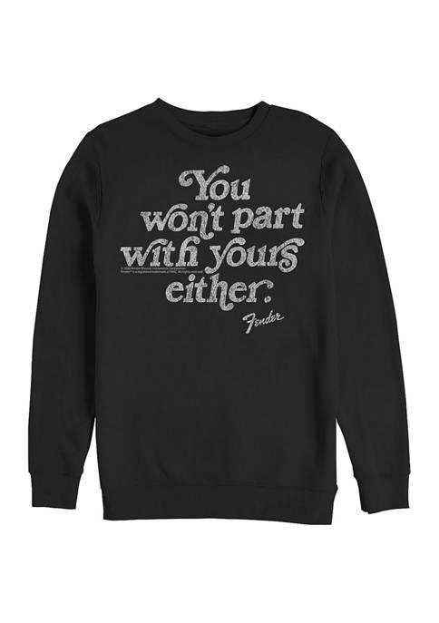 Fender Vintage Quote Graphic Crew Fleece Sweatshirt