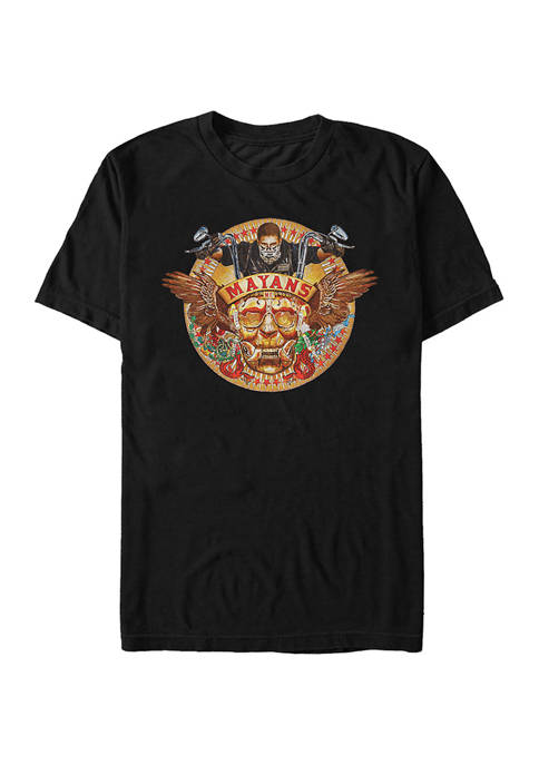 Mayans Wings Graphic Short Sleeve T-Shirt