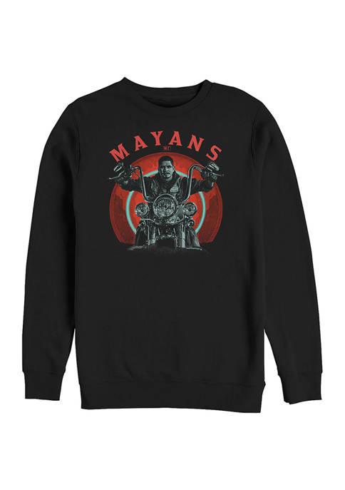 Fifth Sun™ Mayans Ride Graphic Crew Fleece Sweatshirt