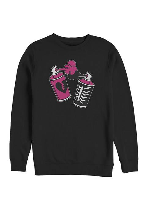 Fortnite Juniors Spray Cans Graphic Crew Fleece Sweatshirt