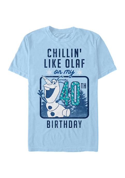 Disney® Olaf Birthday 40 Graphic Short Sleeve T-Shirt