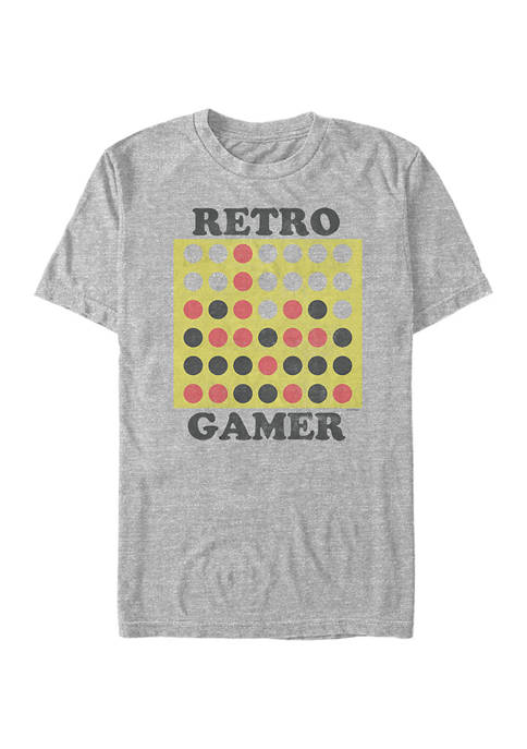 Connect Four Retro Gamer Graphic T-Shirt